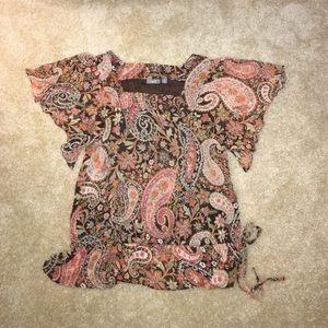 Apt 9 women's paisley peasant top